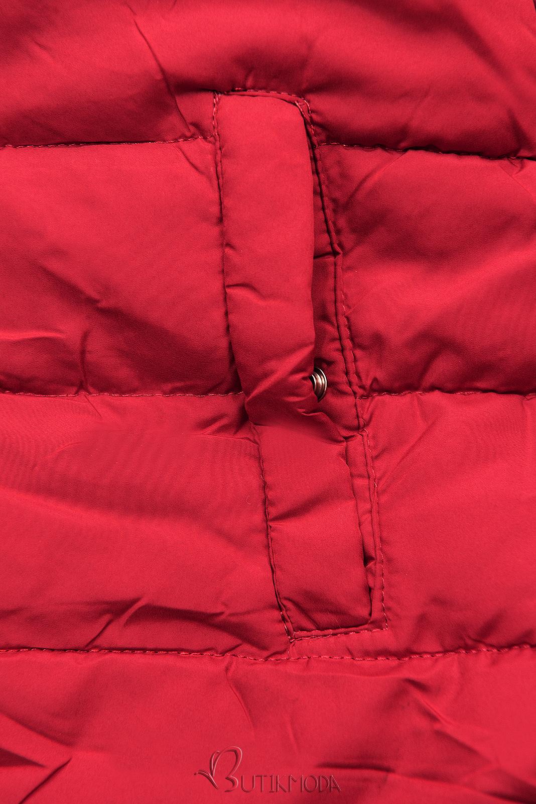Téli kifordítható parka - sötétkék és piros  színű