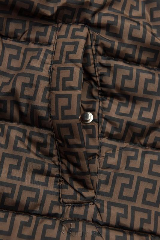 Téglanarancs színű steppelt kifordítható kabát