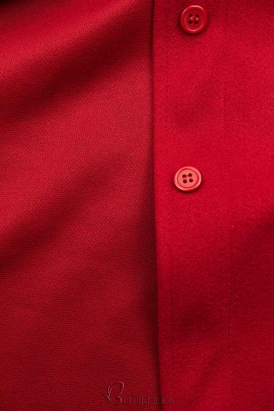 Piros színű könnyű köpeny