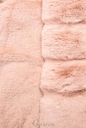 Szürke és rózsaszínű parka műszőrme szegéllyel