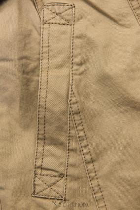Bézs színű női kabát