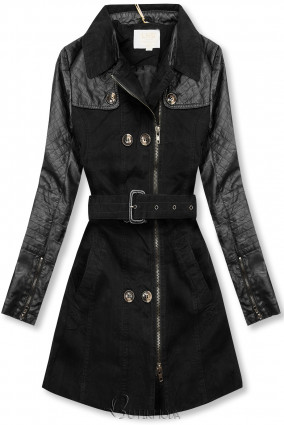 Fekete színű női kabát