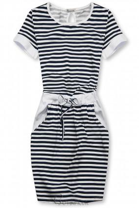Kék és fehér színű csíkos ruha II.