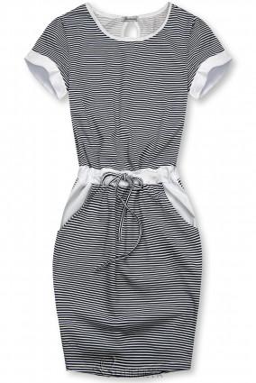 Kék és fehér színű csíkos ruha IV.