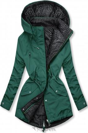 Zöld és szürke színű kifordítható átmeneti kabát