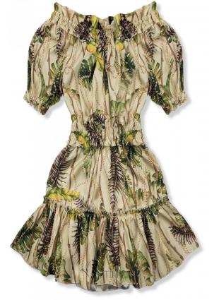 Bézs és sárga színű ruha Serena/O'la Voga