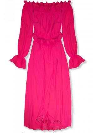 Fukszia színű hosszú nyári ruha