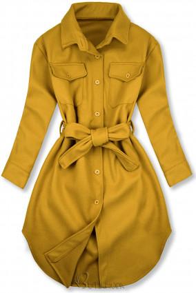 Mustársárga színű könnyű köpeny
