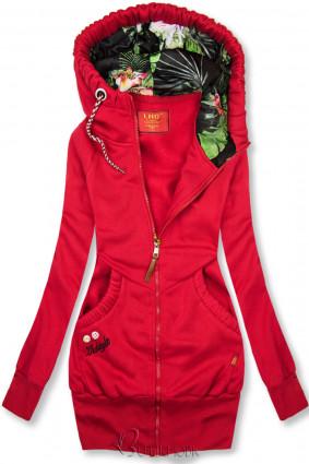 LHD márkájú piros színű hosszított felső