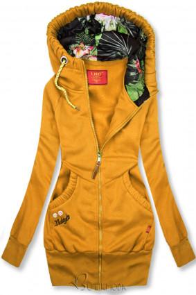LHD márkájú sárga színű hosszított felső