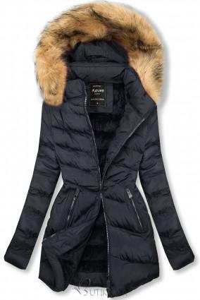 Steppelt átmeneti kabát - sötétkék színű